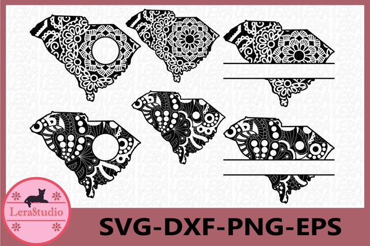 South Carolina State SVG, South Carolina , Mandala SVG example image 1