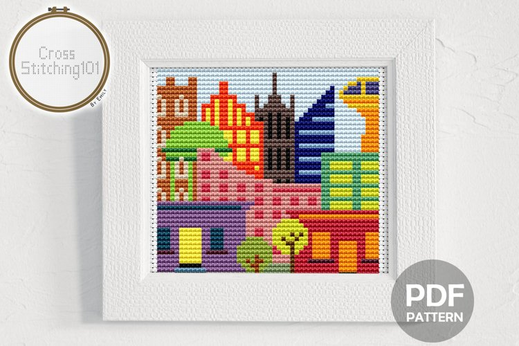City Cross Stitch Pattern - Instant Download PDF example image 1