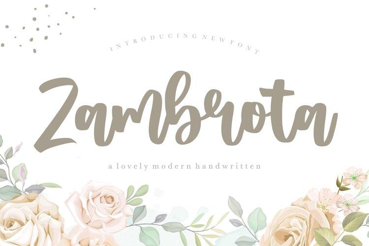 Zambrota Lovely Modern Handwritten Font example image 1