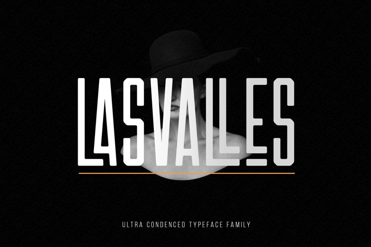 Las Valles Ultra Condensed Typeface 4 Fonts example image 1