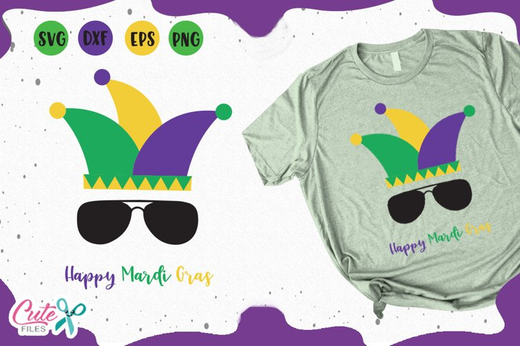 Happy mardi gras svg for crafters example image 1