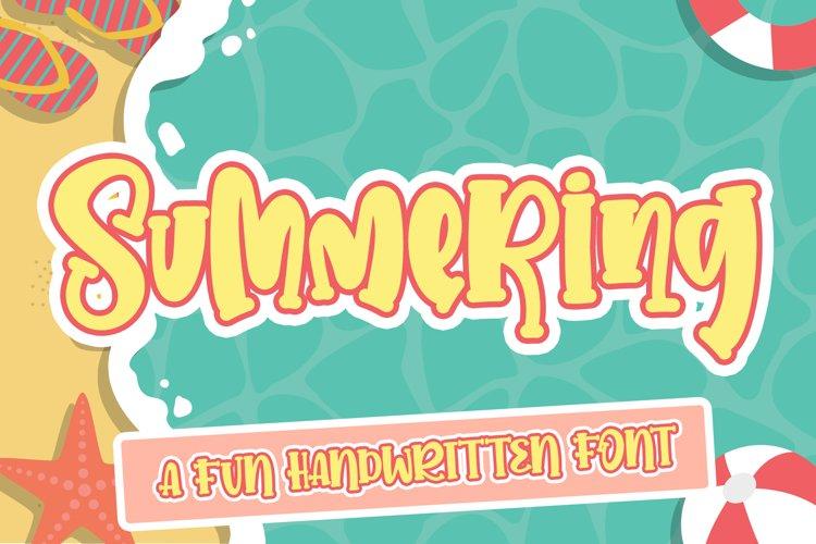Summering- Web Font