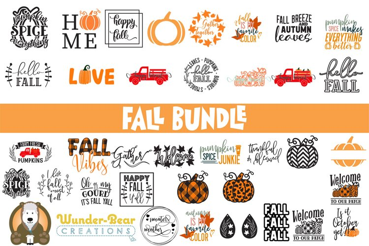 Fall Bundle by Wunder-Bear Creations example image 1