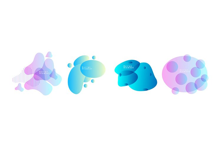 Set of abstract modern graphic elements example image 1