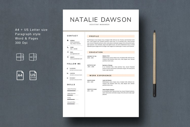 Resume Template for MAC Pages example image 1