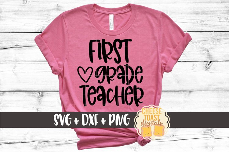Back to School SVG | First Grade Teacher example image 1