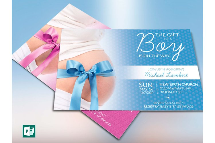 Baby Shower Invitation Photoshop Template example 3