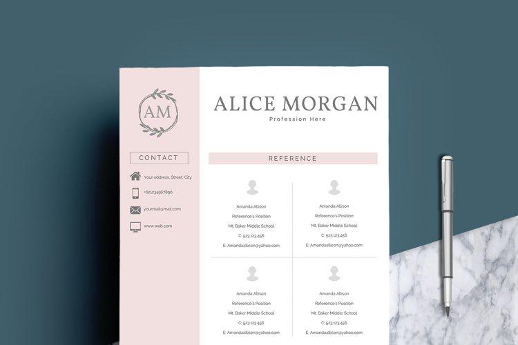 Professional Creative Resume Template - Alice Morgan - Free Design of The Week Design4
