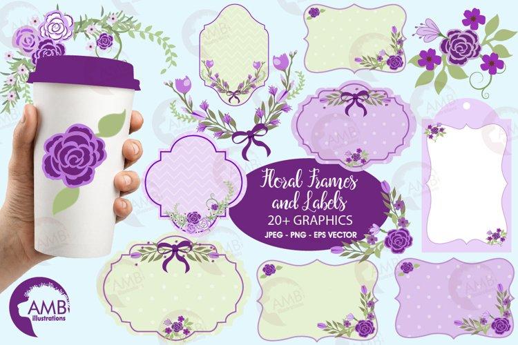 Lavender frames and embellishments graphics, illustrations AMB-965