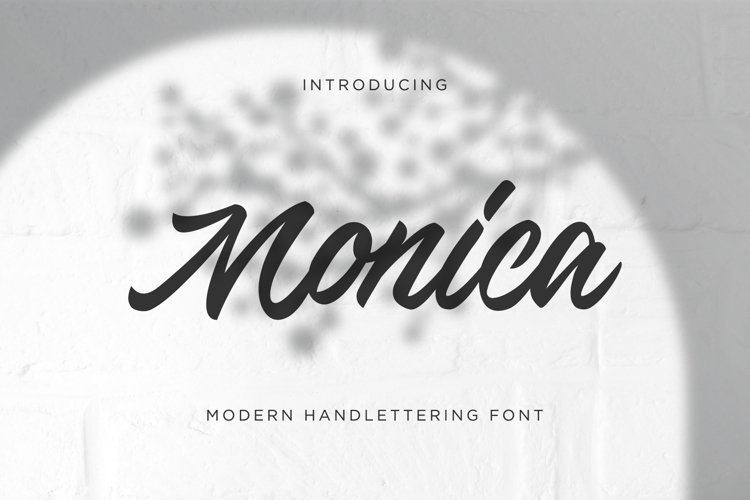Monica Script example image 1