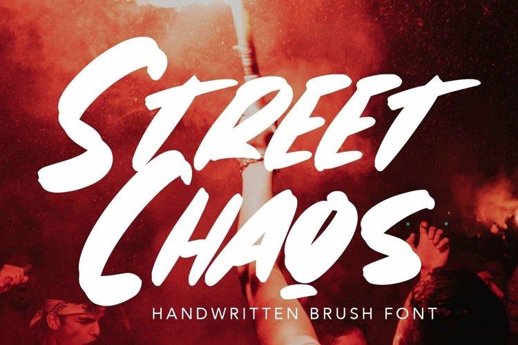 Web Font StreetChaos - Brush Fonts example image 1