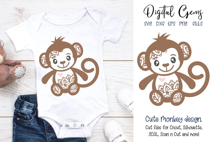 Monkey SVG / PNG / EPS / DXF Files example image 1