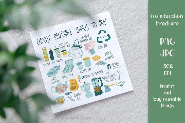 Zero waste. Reusable things to buy. Eco friendly lifestyle