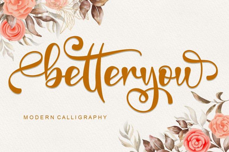 Betteryou - Modern Calligraphy example image 1