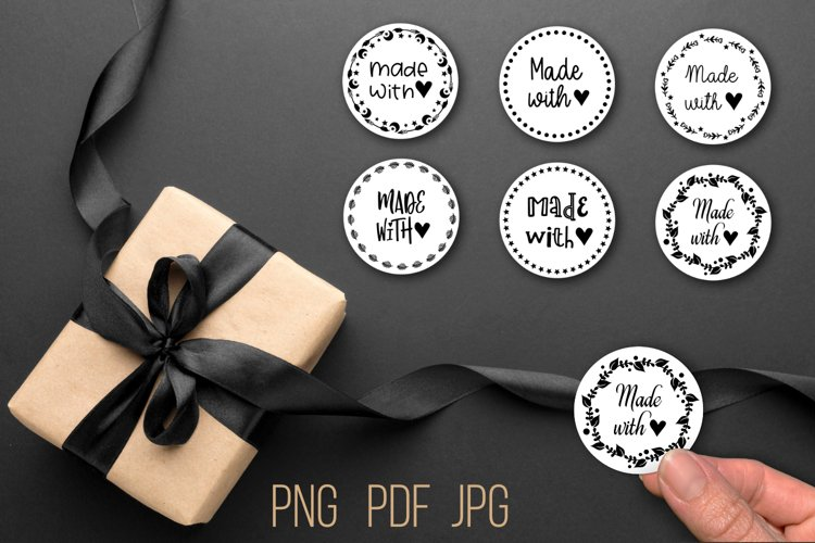 Made with love stickers - clipart