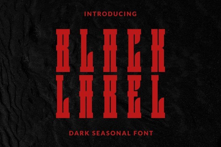 Web Font BlackLabel Font example image 1