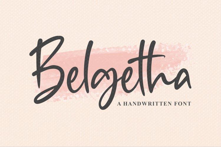 Belgetha a Handwritten Font example image 1