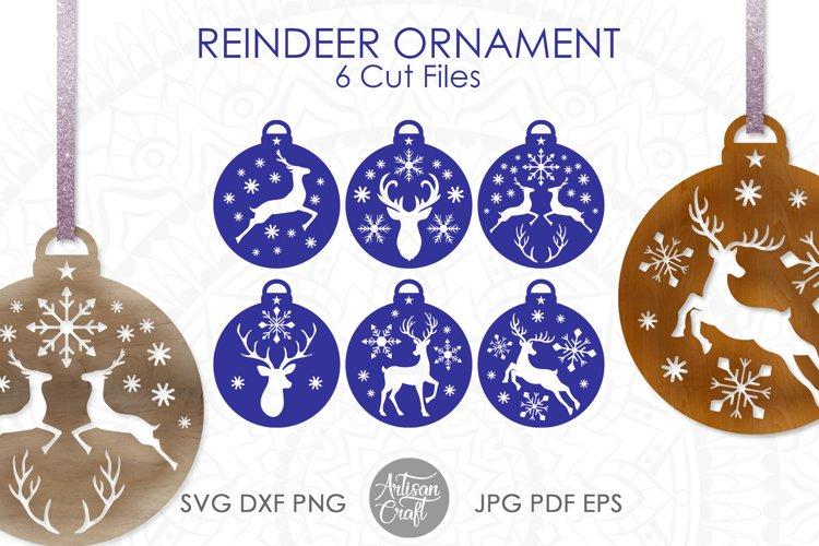 Reindeer ornament, SVG, Christmas ornaments SVG