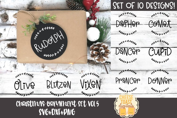 Christmas Ornament Bundle Vol 5| Reindeer Names for Rounds example image 1