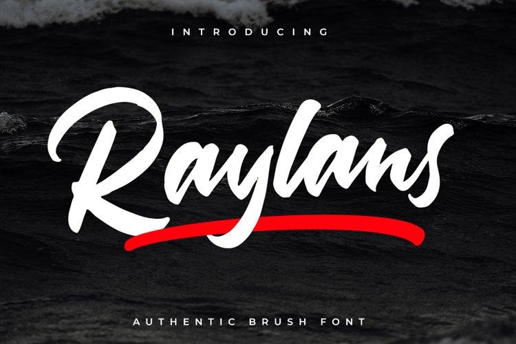 Raylans Brush Font example image 1