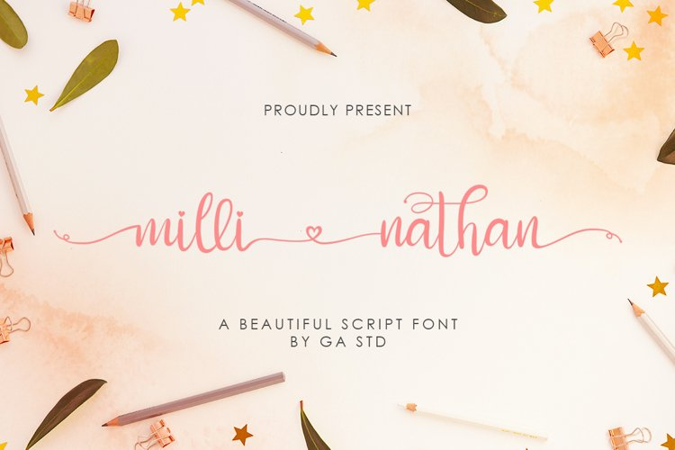 Milli Nathan - A Beautiful Script Font example image 1