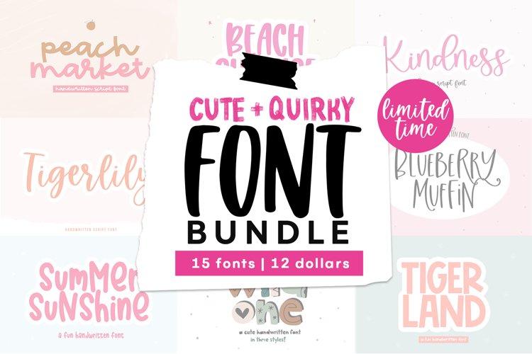 Summer Font Bundle - Handwritten Fonts for Crafters!