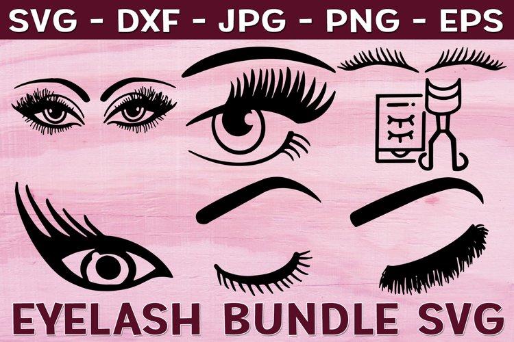 Eyes SVG, Eyelash SVG, Eyebrows, Make Up Bundle example image 1