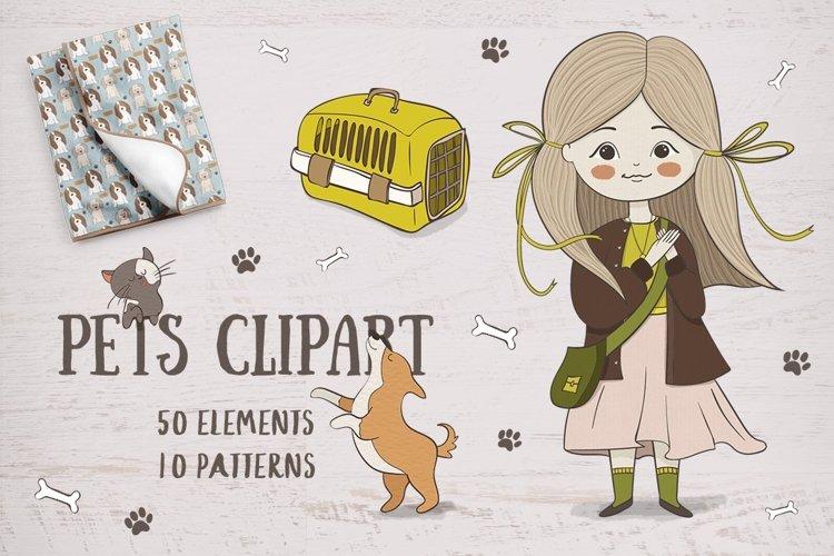 Cute pets clipart