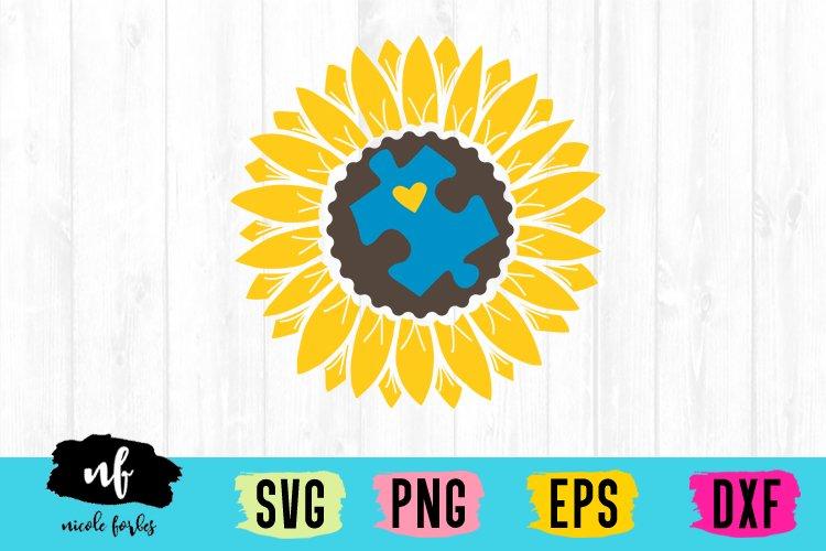 Sunflower Autism SVG Cut File
