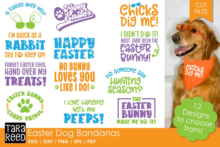 Easter Dog Bandanas - SVG & Cut Files for Crafters