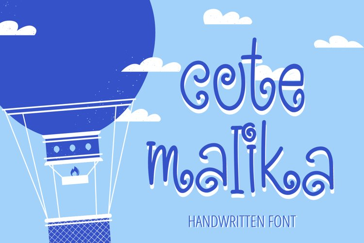 Cute Malika - Cute and Fun Handwritten Font