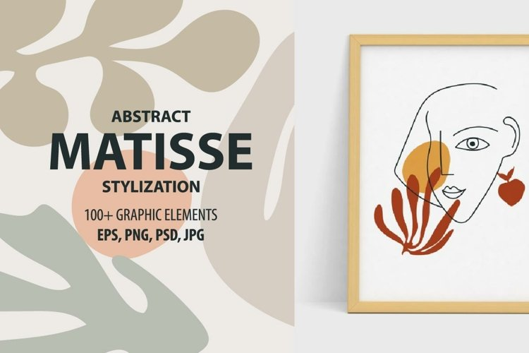 Henri Matisse more then 100 abstract elements stylization