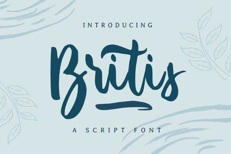 Britis | Script Font example image 1