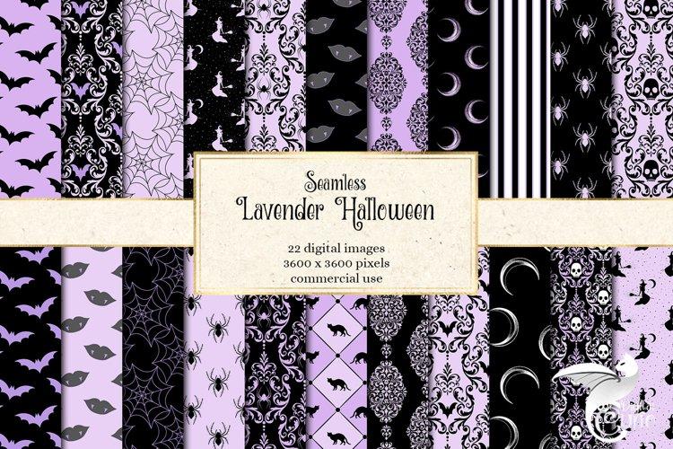 Lavender Halloween Digital Paper