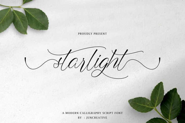 starlight a modern calligraphy script example image 1