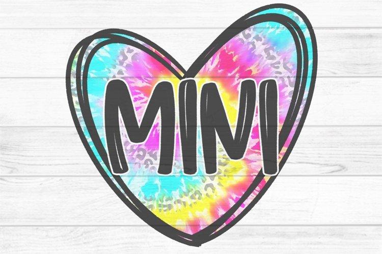 Mini Tie Dye Heart