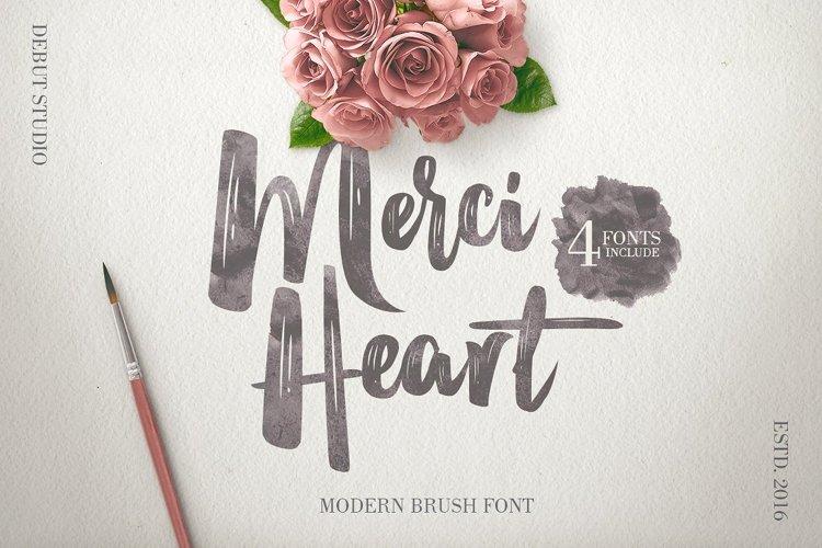Merci Heart Brush (30% Off) example image 1