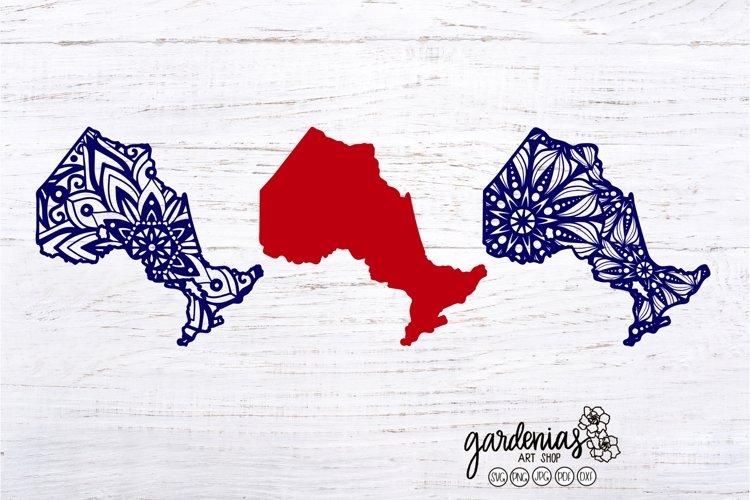 Ontario Mandala SVG | Ontario Canada Cut File | Canadian Map