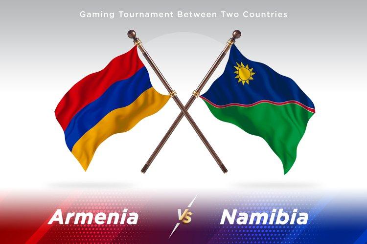 Armenia versus Namibia Two Flags example image 1