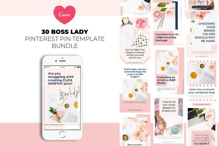 Boss Lady Pinterest Templates example image 1