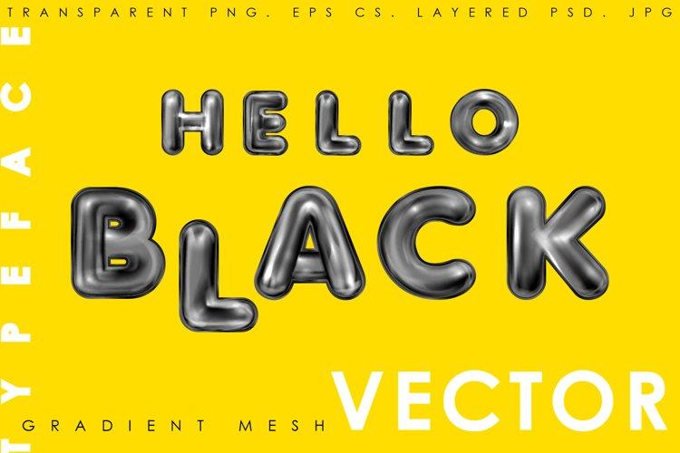 Hello Black. Alphabet and numerals example image 1