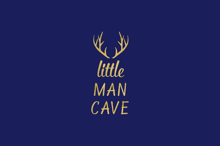 Little Man Cave SVG, Baby Boy Nursery Clipart example image 1