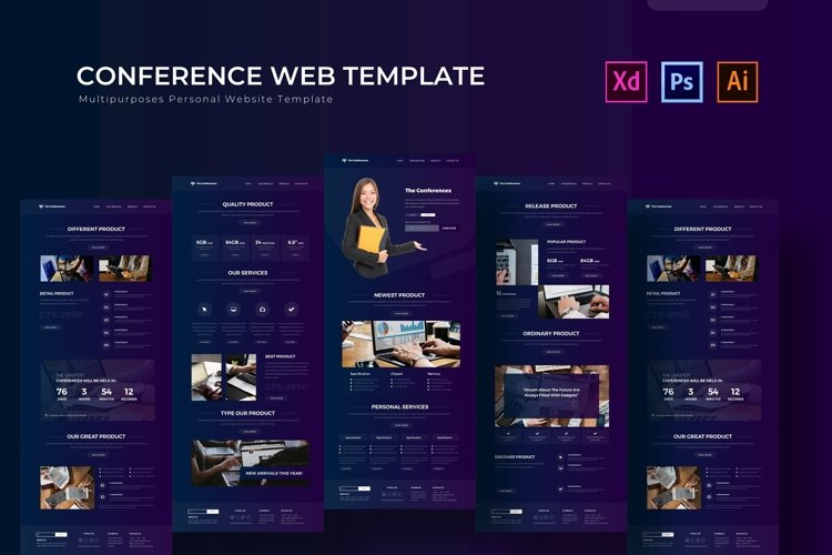 The Conferences | Web Template example image 1