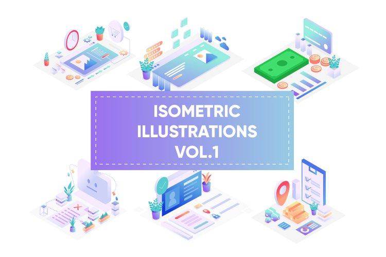 Isometric illustrations for web vol 1