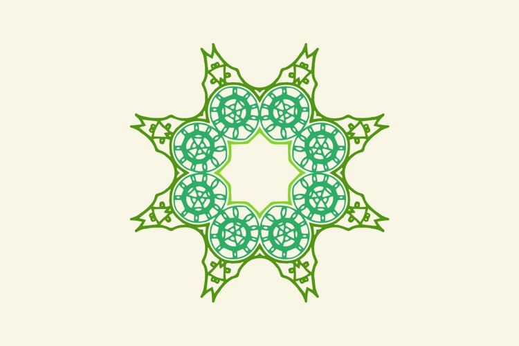 Ornament Abstract Green Color example image 1