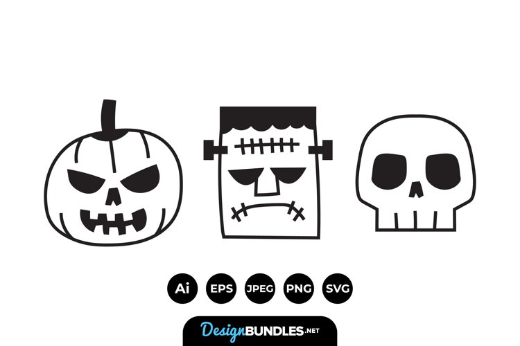 Simple Halloween Illustrations example image 1
