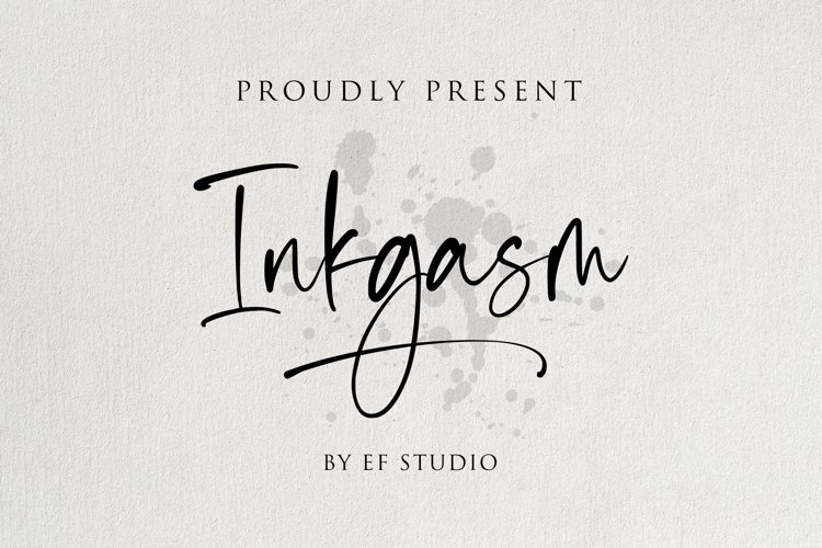 Inkgasm | Casual Script Font example image 1