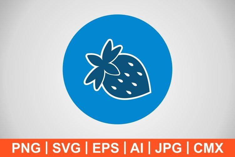 Vector Strawberry Icon example image 1