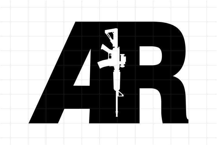 AR-15 Gun SVG, AR15 Rifle cutting file example image 1