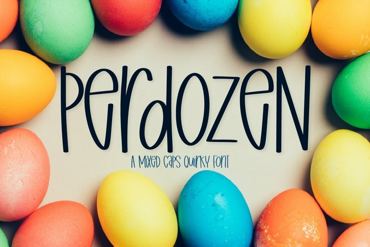 Web Font Perdozen - A Mixed Caps Quirky Hand Lettered Font example image 1